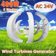400W AC 24V 5 Blades Lanterns Wind Turbine Generator Vertical Axis Windmill US