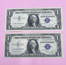 1935 AND 1957 ($1) ONE DOLLAR BLUE SEAL SILVER CERTIFICATE NOTES