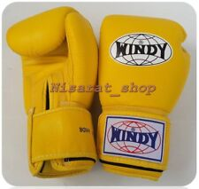 WINDY BOXING GLOVES  BGVH YELLOW FOR KIDS 4,6 SPARRING MUAY THAI  MMA K1