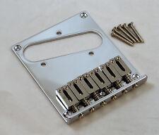 QUALITY 6 SADDLE GUITAR BRIDGE FOR FENDER TELECASTER / STEEL SUSTAIN SADDLES/ CR