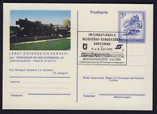 Österreich Karte Denkmal Lokomotive Reihe 52 Stempel Badgastein 1982 Strasshof