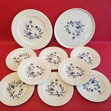Service à dessert en porcelaine Frelon 8 assiettes Ø 22 cm + 2 plateaux  Ø 30 cm