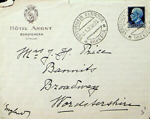 ITALY 1936 1v ON HOTEL ANGST COVER TO GB