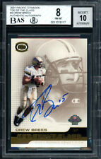 Drew Brees Autographed 2001 Pacific Dynagon RC Auto 10 Card 8 Beckett 11078117
