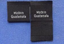 1000Pcs Black Woven Custom Care Garment Clothing Tag Label Made In Guatemala