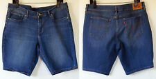 Levi Denim Modern Medium Blue Stretch Denim Jean Shorts 32