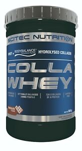 SCITEC NUTRITION COLLAWHEY whey protein hydrolysed collagen CHOCOLATE EXP 6/21