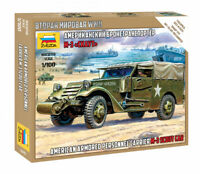 ZVEZDA 6245 AMERICAN M-3 SCOUT CAR WWII SCALE MODEL KIT 1/100 NEW