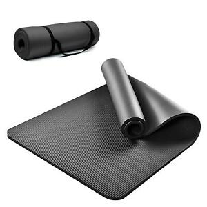 61x 183cm Yoga Mat 10mm Thick Gym Exercise Fitness Pilates Workout Mat Non Slip