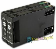 2 Black T7011 non-OEM Ink Cartridge For Epson Pro WP-4525DNF WP-4535DWF