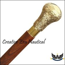 Knob Vintage Solid Brass Handle Victorian Wood Walking Stick Cane Antique Canes