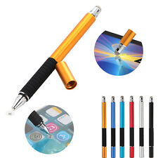 2in1 Capacitive Fine Point Round Thin Tip Touch Screen Stylus Pen For CellphoneF