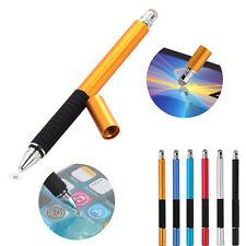 2 en 1 punto fino capacitivo redondo punta fina pantalla táctil lápiz pl dG