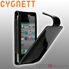 GENUINE Cygnett Glam Patent Leather Flip Case for iPhone 4 4S 3G 3GS Gloss Black