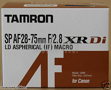 New TAMRON SP AF 28-75mm F/2.8 XR Di LD Aspherical IF Macro Lens for Canon