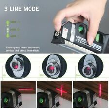In 1 Laser Level Aligner Vertical Cross Line Horizon Ruler Measuring Instrument