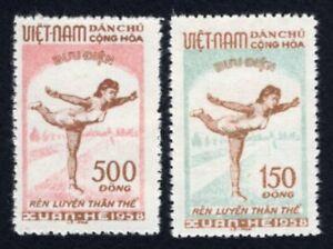 Olympic Vietnam 1958 complete set Mi#70-71 MNG CV=40€