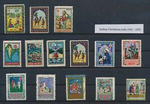 LO42915 India 1941 -1955 christmas holidays fine lot MNH