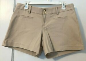 Lilly Pulitzer Joette Stretch Dinner Short Palm Beach Sandstone Khaki Size 8 NWT