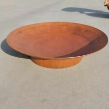NATURAL RUST FINISH DESIGNER QUALITY 3MM STEEL 80CM OPEN FIRE PIT DISH **NEW**