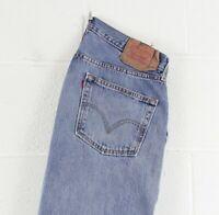 Vintage LEVI'S 501 Regular Straight Fit Men's Distressed Blue Jeans W36 L32