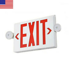 1pack Led Exit Sign Emergency Lighthi Output Compact Combo Red Fire Ul Listed