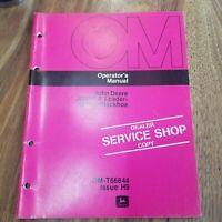 John Deere JD302-A Loader Loader/Backhoe Operator's Manual OM-T66844 Issue H9