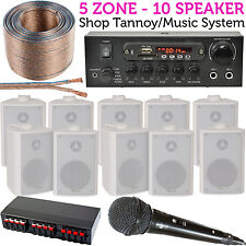 10x 60W Speaker -Shop Tannoy/PA & Karaoke System-Bluetooth Hifi Stereo Amplifier