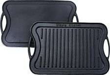 Cast Iron Grill Reversible Griddle, 17 x 10 Inch Utopia Kitchen