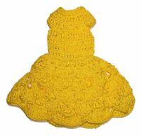 Vintage 1960 Barbie Hand made Crochet Skipper Skooter Tammy Doll Dress Yellow