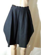 COS Cotton Black Tulip Shape Skirt Knee-length Size US 4