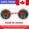 2018 Canada Armistice $2 Coloured & No Color Toonie Poppy UNC BU SET from Roll