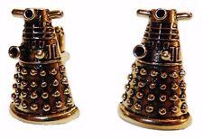 Doctor Who DALEK Bronze 3D Metal/Enamel CUFFLINKS
