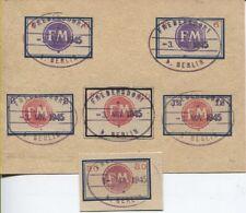 Salida localmente Fredersdorf sp 250 y sp251-254 con sello a calco subyacente (b06030)