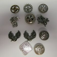 Lot of 11 Miscellaneous Tandy Conchos