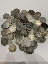 More details for pre 1920 old head queen victoria  925 silver sixpence x117 scrap coins = 300 gms