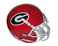 Herschel Walker Georgia Bulldogs Signed STAT Helmet 4 inscriptions JSA Witnessed