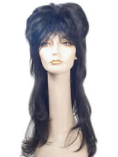 MISTRESS OF THE DARK GOTH HORROR MOVIES ELVIRA BLACK LACEY WIG COSTUME LW187BK