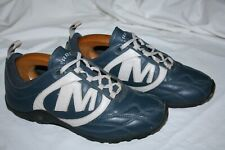 MERRELL LADIES SIZE 5.5 SUPERB STRIKER GOAL LEATHER TRAINERS IN BLUE & IVORY