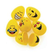 12 x UN-HINGED Empty Emoji Plastic Easter Eggs...Fillable..Party Favor