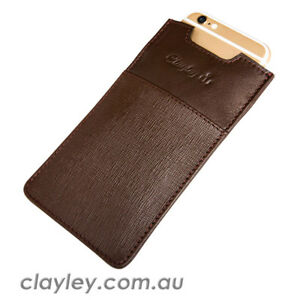Clayley Leather Phone Pouch (Cow Drum Dyed Leather, Safiano Series)