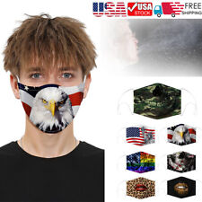 Fashion Funny Face Mask 3D Printed Face Cover Washable Reusable Unisex Cosplay