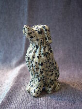 Carved Dalmatian Jasper Dog - 7.5cm