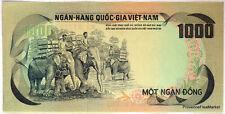 BILLET SUD VIETNAM NEUF  1000 DONG ELEPHANT ET CORNAC  P34a 1972