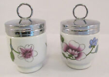 Royal Worcester Astley Porcelain Egg Coddlers With Lids Set of 2