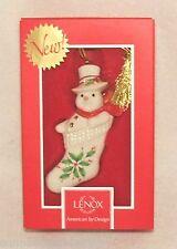 Lenox Holiday Snowman Stocking Stuffer Christmas Ornament (829574A) NEW!