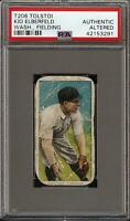 Rare 1909-11 T206 Kid Elberfeld Fielding Tolstoi Back Washington PSA Authentic