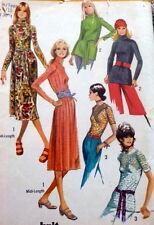LOVELY VTG 1970s DRESS & BLOUSE Sewing Pattern 10/30.5