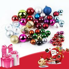 50Pcs Glitter Christmas Balls Baubles Xmas Tree Hanging Ornament Home Decor HOT