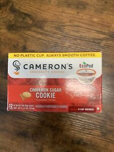 Cameron's Coffee Single Serve Pods Flavored Cinnamon Sugar Cookie 12 Count Pa...